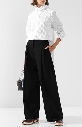 Женская шерстяная блуза с воротником-стойкой J.W. Anderson, цвет белый, арт. TP01718D 140/001 в ЦУМ   Фото №1