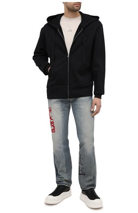 Мужская хлопковая толстовка ACNE STUDIOS черного цвета, арт. CI0001/M | Фото 2