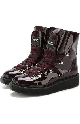 Лаковые ботинки с внутренней меховой отделкой | Фото №1