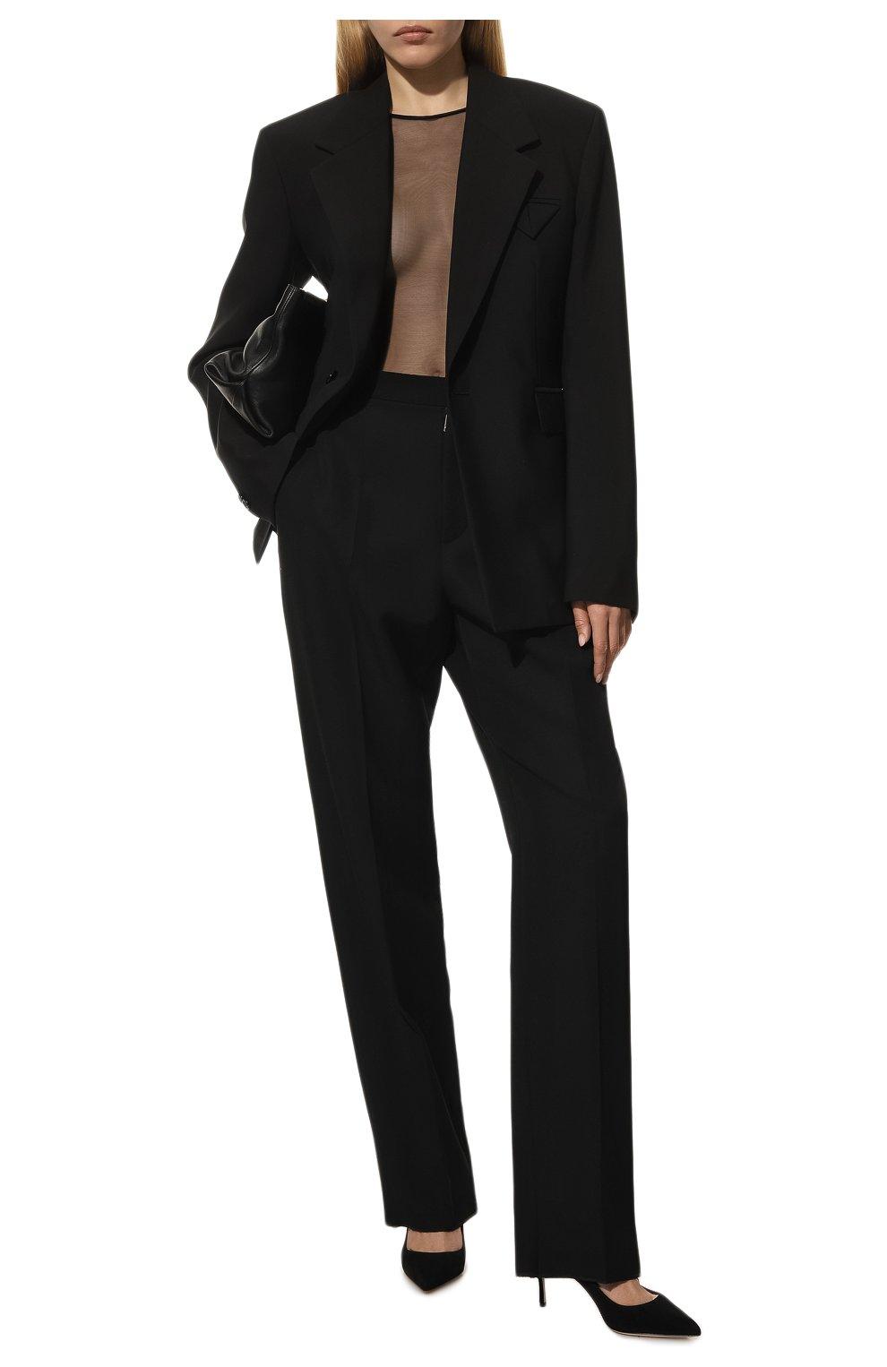 Женские замшевые туфли SERGIO ROSSI черного цвета, арт. A43841-MCAZ01 | Фото 2