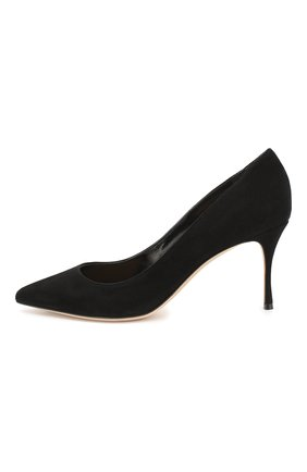 Женские замшевые туфли SERGIO ROSSI черного цвета, арт. A43841-MCAZ01 | Фото 3