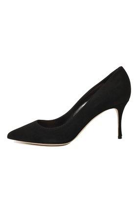 Женские замшевые туфли SERGIO ROSSI черного цвета, арт. A43841-MCAZ01 | Фото 4