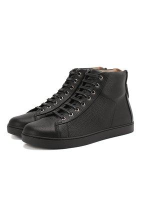 Мужские кожаные кеды GIANVITO ROSSI черного цвета, арт. S28240.M1BLK.B0XNER0 | Фото 1