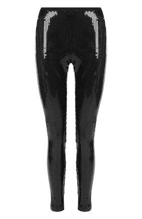 Леггинсы с эластичным поясом и пайетками Marc Jacobs черные | Фото №1
