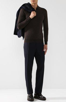 Мужское шерстяное поло CRUCIANI темно-коричневого цвета, арт. CU164.PZ1F6V | Фото 2