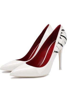 Женская лаковые туфли valentino garavani vltn VALENTINO белого цвета, арт. QW2S0I67/BXL | Фото 1