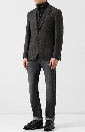 Мужские высокие кожаные ботинки с внутренней меховой отделкой DOUCAL'S черного цвета, арт. DU1793WINNUM019NN00 | Фото 2