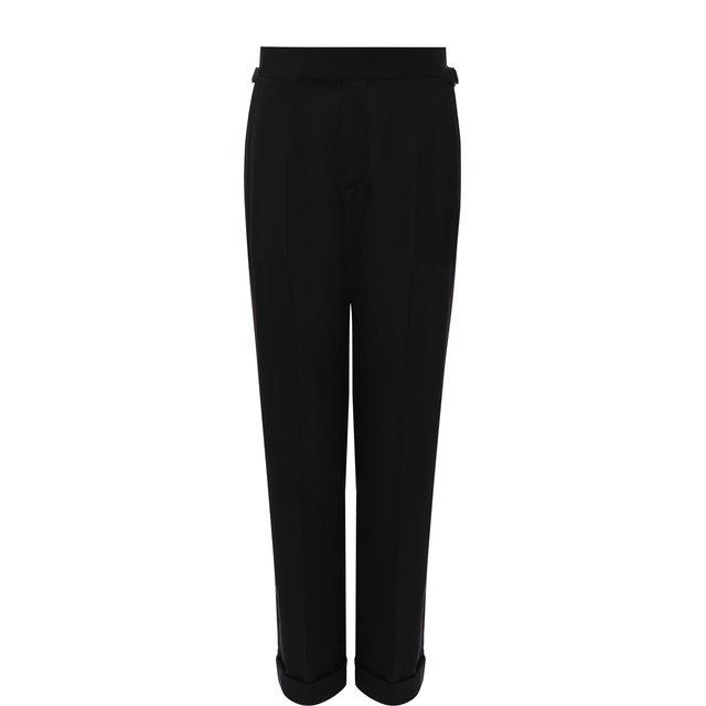 Укороченные шерстяные брюки со стрелками и отворотами Tom Ford