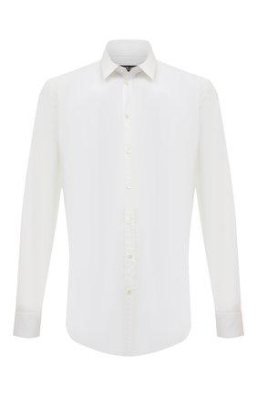 Мужская хлопковая сорочка с воротником кент DOLCE & GABBANA белого цвета, арт. G5EJ0T/FUMRY | Фото 1