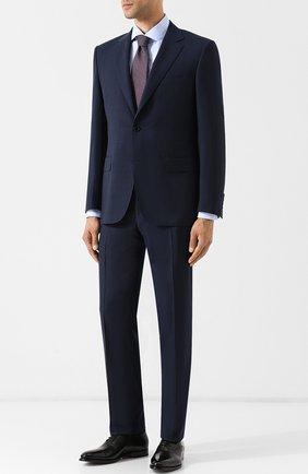 Мужская хлопковая сорочка с воротником кент ERMENEGILDO ZEGNA голубого цвета, арт. 401030/9RS0BA | Фото 2
