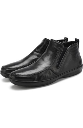 Кожаные ботинки с внутренней меховой отделкой Aldo Brue темно-синие | Фото №1