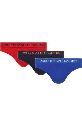 Комплект из трех хлопковых брифов с широкой резинкой | Фото №1