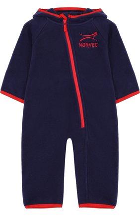 Комбинезон с капюшоном Norveg темно-синего цвета | Фото №1