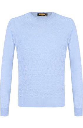 Джемпер фактурной вязки из смеси кашемира и шелка | Фото №1