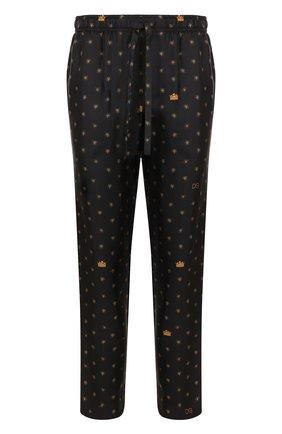 Шелковые домашние брюки с принтом   Фото №1