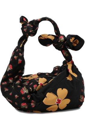 Текстильная сумка с принтом Simone Rocha разноцветная цвета | Фото №1