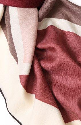 Шелковая шаль с принтом Salvatore Ferragamo синего цвета | Фото №1