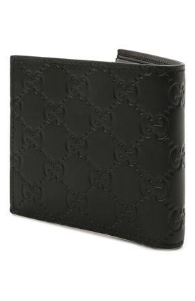 Мужской кожаное портмоне с тиснением signature GUCCI черного цвета, арт. 473922/CWC1N | Фото 2