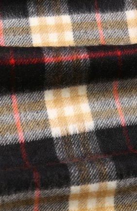 Мужской кашемировый шарф в клетку BURBERRY черного цвета, арт. 4075255 | Фото 2