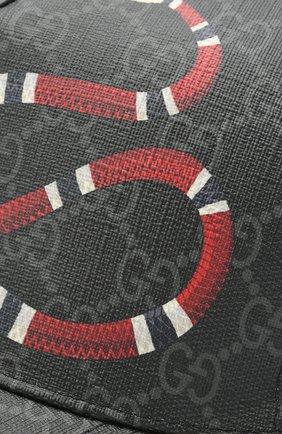 Мужской бейсболка gg supreme GUCCI черного цвета, арт. 426887/4HB10   Фото 3