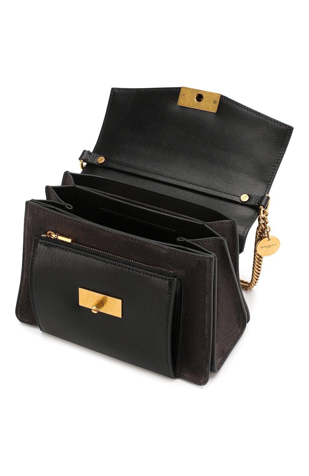 Женская сумка gv3 small GIVENCHY темно-серого цвета, арт. BB501CB033 | Фото 4