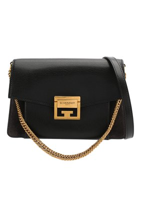 Женская сумка gv3 small GIVENCHY темно-серого цвета, арт. BB501CB033 | Фото 6