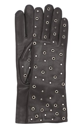 Кожаные перчатки с металлическими люверсами | Фото №1