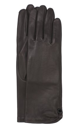 Женские кожаные перчатки AGNELLE темно-серого цвета, арт. AUDREY/S | Фото 1