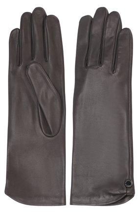 Женские кожаные перчатки AGNELLE темно-серого цвета, арт. AUDREY/S | Фото 2