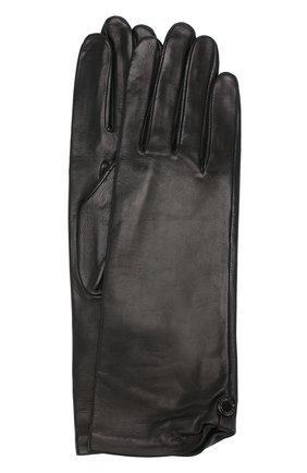Женские кожаные перчатки AGNELLE черного цвета, арт. AUDREY/S | Фото 1