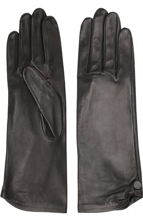 Женские кожаные перчатки AGNELLE черного цвета, арт. AUDREY/S | Фото 2