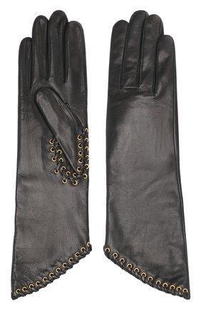 Кожаные перчатки Agnelle черные | Фото №1