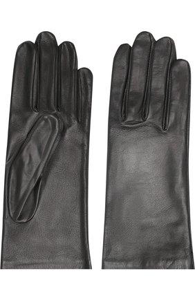 Женские кожаные перчатки AGNELLE черного цвета, арт. INES/S | Фото 2