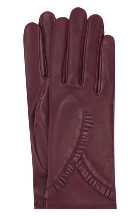 Кожаные перчатки Agnelle фиолетовые | Фото №1