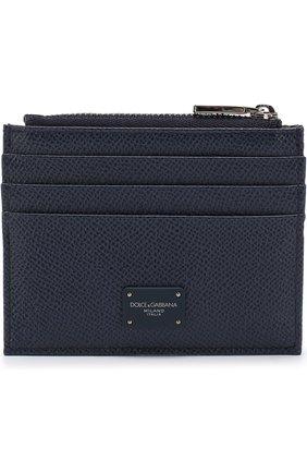 Мужской кожаный футляр для кредитных карт  DOLCE & GABBANA синего цвета, арт. BP2266/AI359 | Фото 1