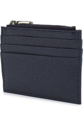 Мужской кожаный футляр для кредитных карт  DOLCE & GABBANA синего цвета, арт. BP2266/AI359 | Фото 2