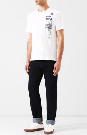 Хлопковая футболка с принтом Paul&Shark белая | Фото №1