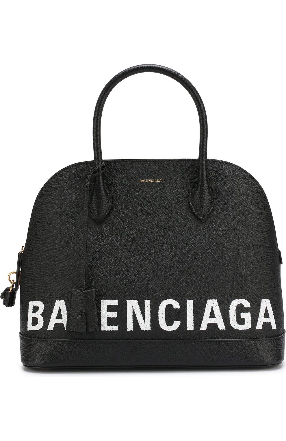 9e5d86791434 Женская сумка ville m BALENCIAGA черного цвета — купить за 136000 ...