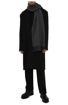 Мужской шерстяной шарф POLO RALPH LAUREN темно-серого цвета, арт. 449727530 | Фото 2