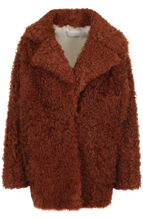 Укороченное пальто из овчины | Фото №1