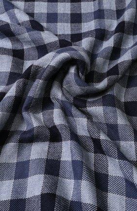 Мужской кашемировый шарф в клетку LORO PIANA синего цвета, арт. FAI3346 | Фото 2