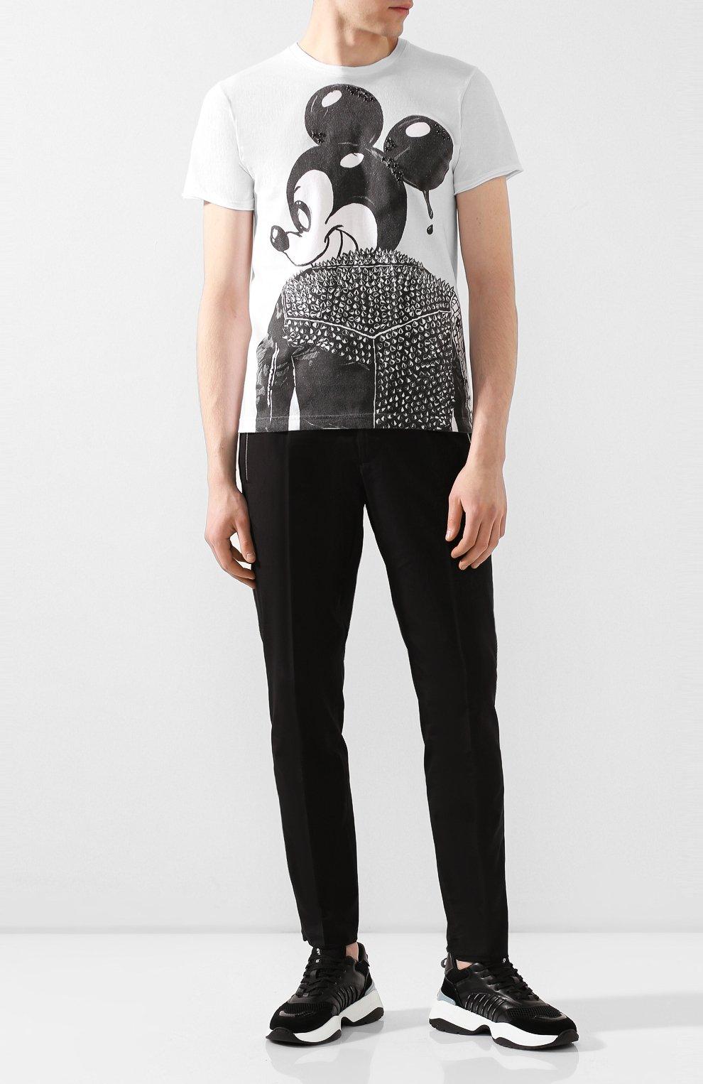 Мужская хлопковая футболка DOM REBEL белого цвета, арт. MICK/T-SHIRT   Фото 2