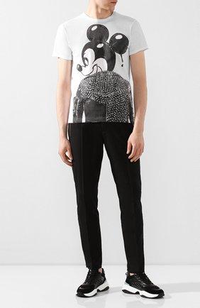 Мужская хлопковая футболка DOM REBEL белого цвета, арт. MICK/T-SHIRT | Фото 2