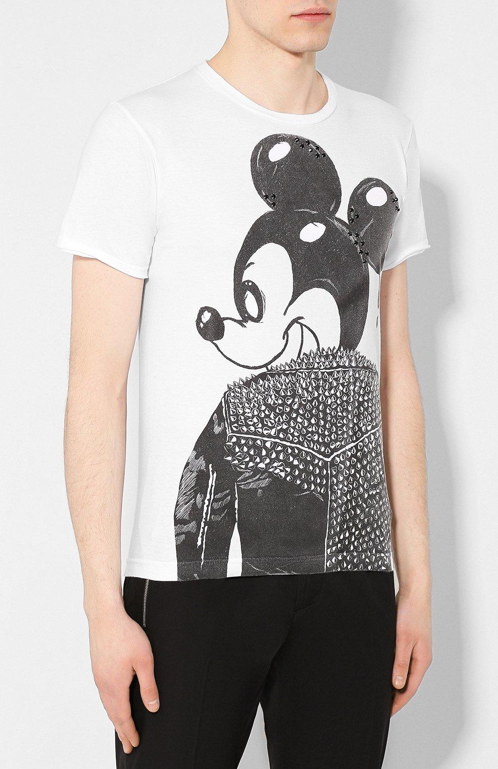 Мужская хлопковая футболка DOM REBEL белого цвета, арт. MICK/T-SHIRT   Фото 3