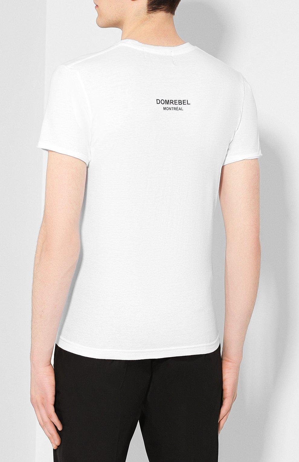Мужская хлопковая футболка DOM REBEL белого цвета, арт. MICK/T-SHIRT   Фото 4