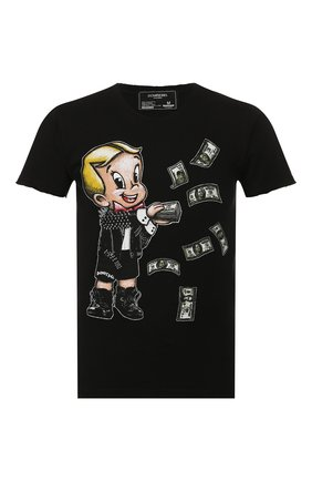 Мужская хлопковая футболка DOM REBEL черного цвета, арт. BALLER/T-SHIRT | Фото 1
