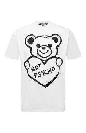 Мужская хлопковая футболка с принтом DOMREBEL белого цвета, арт. PSYCH0/T-SHIRT | Фото 1 (Рукава: Короткие; Материал внешний: Хлопок; Длина (для топов): Стандартные; Принт: С принтом)