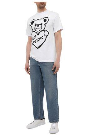 Мужская хлопковая футболка с принтом DOMREBEL белого цвета, арт. PSYCH0/T-SHIRT | Фото 2 (Рукава: Короткие; Материал внешний: Хлопок; Длина (для топов): Стандартные; Принт: С принтом)