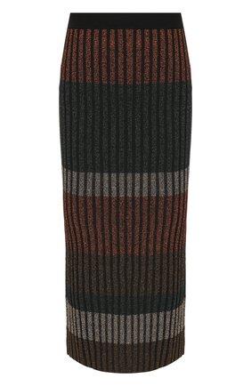 Юбка-миди с эластичным поясом и металлизированной нитью By Malene Birger разноцветная   Фото №1