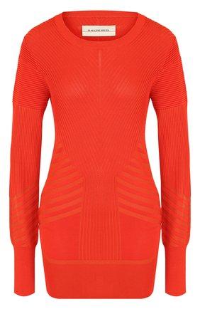 Вязаный пуловер с круглым вырезом By Malene Birger коралловый   Фото №1